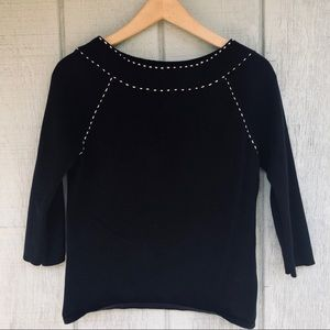 3/$20 Relativity Black Ribbed Sweater
